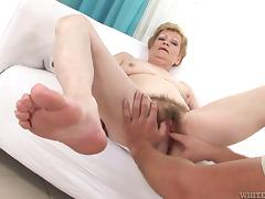 fingering grandma's hairy snatch @ i wanna cum inside your grandma #07