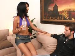Skinny Brunette Mekeilah Sucking And Fucking Doggystyle With Big Cock Dude