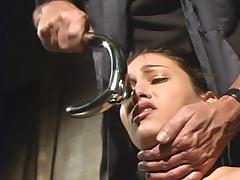 slave in transparent latex porn tube video