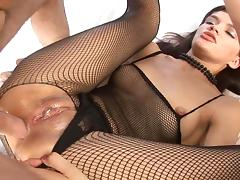 Bodystocking, Anal, Asshole, Bedroom, Blowjob, Bodystocking