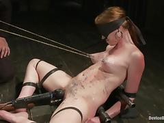 Marie Mccray gets tormented and fucked by a sex machine and loves it tube porn video
