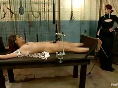 BDSM insanity with two sexy babes and that dude