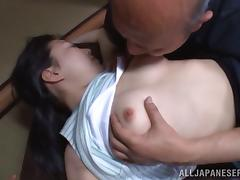 Horny Asian Babe Fucking With An Older Man In Toyko