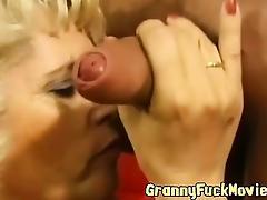 Cock sucking horny blonnde granny