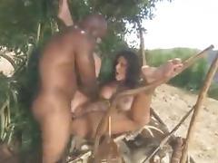 Jane with her black Tarzan