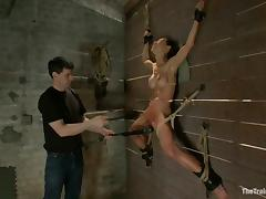 Kinky Tia Ling gets fucked rough in her ass in BDSM vid