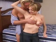 Aidan Layne blows and gets her cunt pounded doggy style