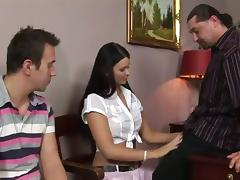 Jasmine Luna Gilt gets say no to holes pounded and creampied give a threesome