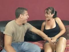 Shady MILF rides a dick passionately and gets facialed