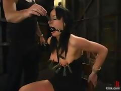 Horny brunette Melissa gets see through anent say no to patienter ass