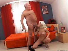 blonde slut sucked grandpa @ this isn't sinful grandpa it's a xxx porn tube video