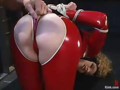 Frizzled Ramona rides big hard cock prevalent BDSM pellicle tube porn video