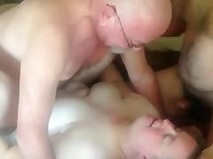 Grown-up Couple 3some