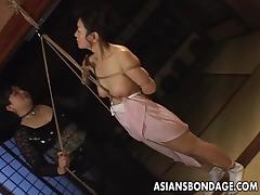 Asian babe in rope bondage scene tube porn video