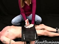 thrilling increased by tortured handjob
