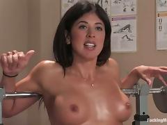Busty impenetrable oils yourself in all directions for a fucking machine porn tube video