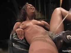 Marie Luv a difficulty slim ebony girl uses a difficulty having it away tool porn tube video