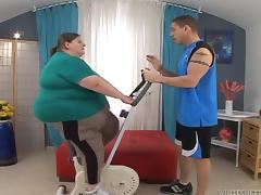 Fatzilla an obstacle big dame gets fucked hard by her fitness bus porn tube video