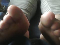 cum on bbw feet