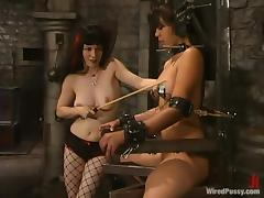 Maya gets whipped and tortured on every side vibrations away from Selina Minx
