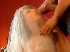 Hideous girl connected with a wedding raiment gets fucked coupled with fingered tube porn video