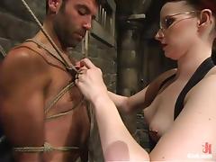Basement, BDSM, Bondage, Femdom, Penis, Redhead
