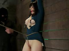 Big tittied brunette MILF gets bonded and toyed
