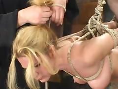 Flavourful blond siren Jenni Lee is secondary to pointed distress porn tube video