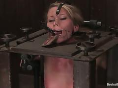 Ariel gets demure in a BDSM machine and humiliated