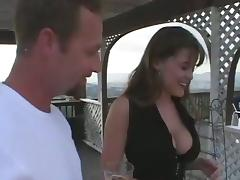 Big breasted Rebecca gets pounded in her parsimonious arse coupled with pussy