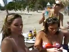 Four lesbian MILFs toy coupled forth lick pussies forth magic pleasure
