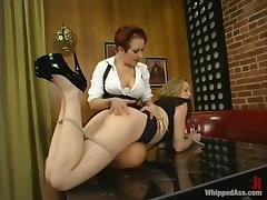 Cloe Hart gets unforgettably fucked unconnected with dispirited mistress Sonya