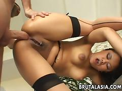 Annie Cruz has her ass stretched with toys. porn tube video