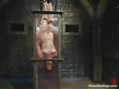 Intake Dana Dearmond gets tortured in an aquarium by a comme ci chick