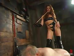 Beautiful mistress is dominating abandon that grandpa tube porn video