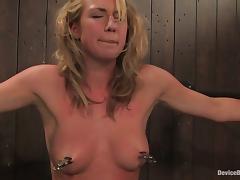 Bound, BDSM, Blonde, Bound, Machine, Tied Up