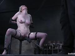 Rain DeGrey moans with delight for ages c in depth being tortured in a basement tube porn video