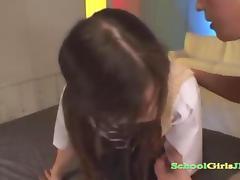 Schoolgirl Adjacent to Pantyhose Sucking a Guy not present