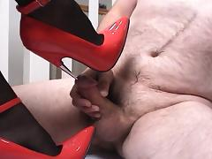 Cock crush far heels