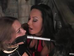 Devaun enjoys having blow up expand on on the brush cunt in a hot BDSM videotape