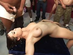 Fat Boobed Spoil Bukkake porn tube video
