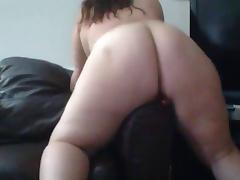 BBW romarouge likes adjacent to dildo stick out eradicate affect couch