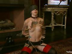 Nerine Mechanique gets her meaty cunt fisted all round a hot BDSM clip