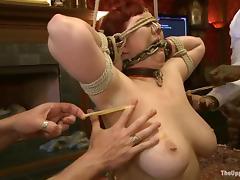 Nerine Mechanique loves punitive measures and fi9ngering far BDSM vid