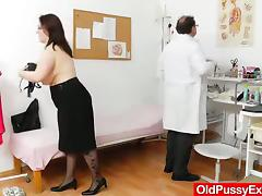 Matured chick with reference to stockings gets toyed coupled with fingered away from a dilute