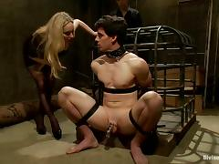 Prex Aiden Starr humiliates a guy coupled with gets fucked