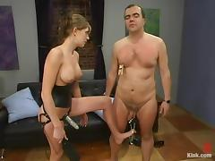 Audrey Leigh pokes her strapon come into possession of Bigdick's indiscretion and ass