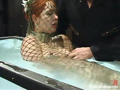 Babe, Babe, Fishnet, Redhead, Underwater