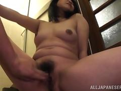 Japanese milf gets fucked regarding many positions after colossal head