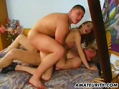 Hot busty amateur day eaten about creampie